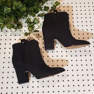 Sam Edelman Suede Block Boot Ankle Booties